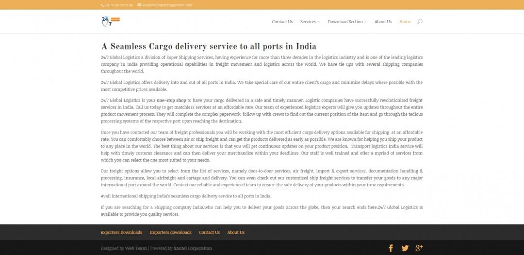 24X7 Global Logistics | Xantel Corporation